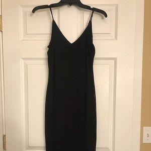 Women's Express Midi Black Bodycon Dress Size M